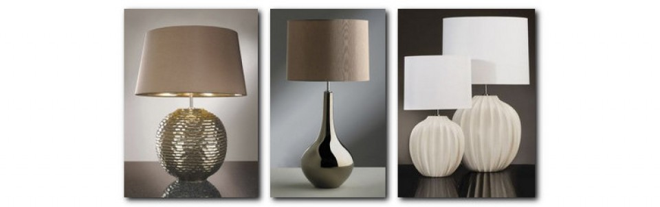 Ceramic Table Lamps With Fabric Lampshades In Various Styles